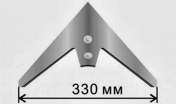 Лапа стрельчатая 330мм. Напл.
